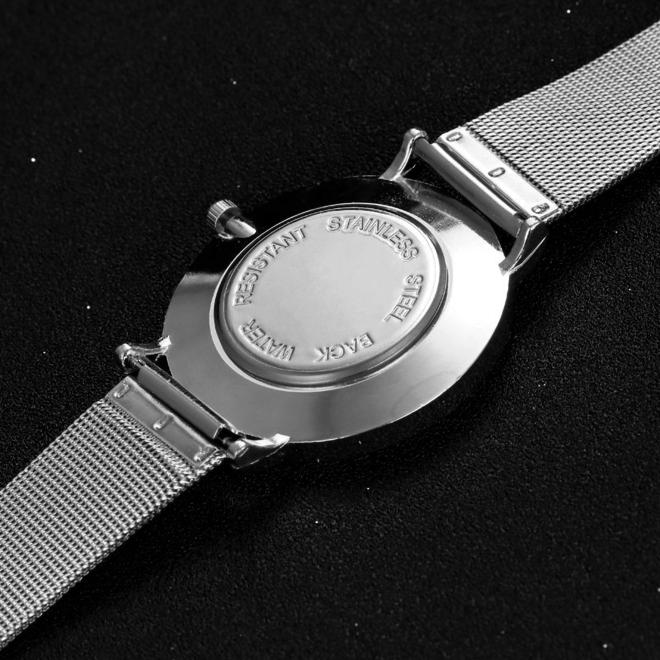 Arabic Mesh Silver Horloge | Zilverkleurig | Arabische Cijfers