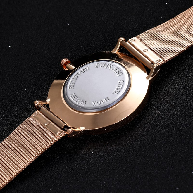 Arabic Mesh Rose Horloge | Rosekleurig | Arabische Cijfers