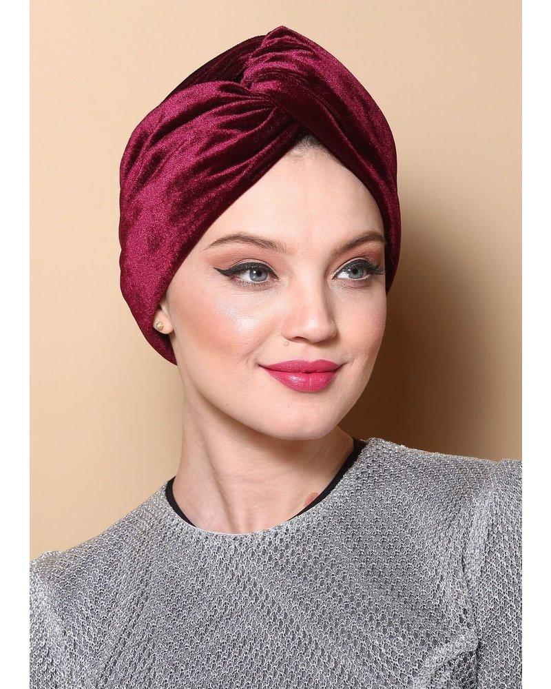 Fashion Favorite Velvet Haarband Wijnrood | Velours-Suede-Fluweel | Bandana