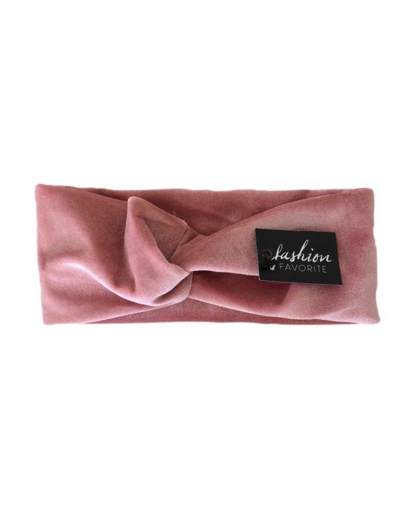 Fashion Favorite Velvet Haarband Lichtroze   Velours-Suede-Fluweel   Bandana  