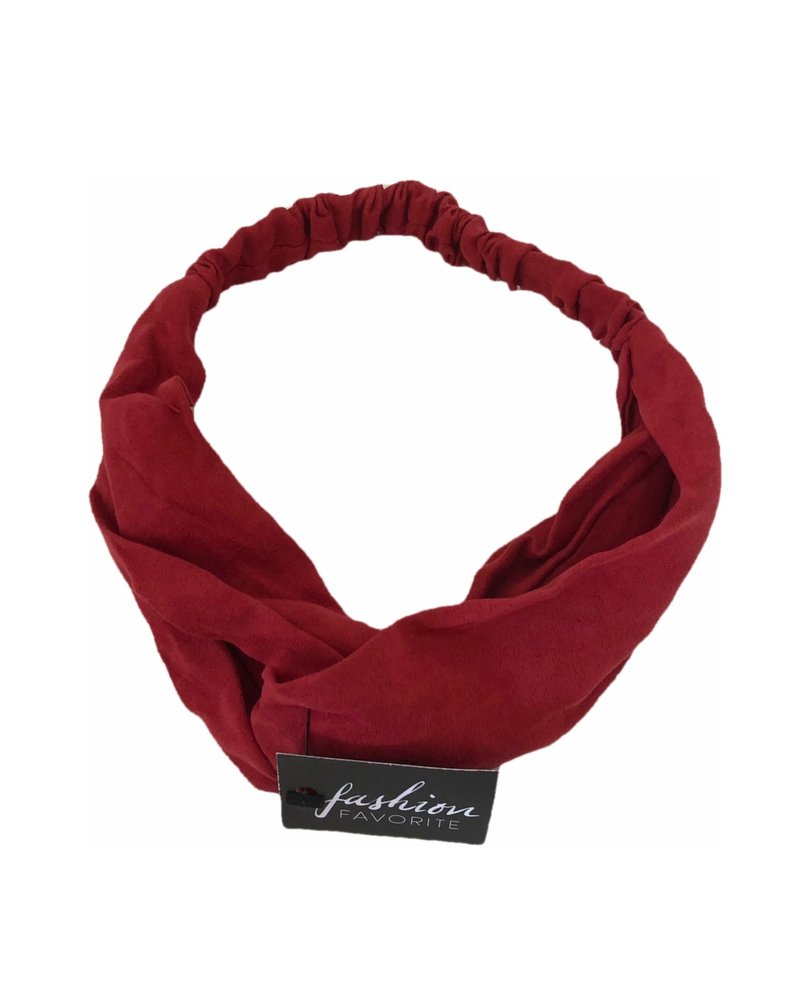 Fashion Favorite Suede Cross Haarband Red | Rood | Velvet Suède