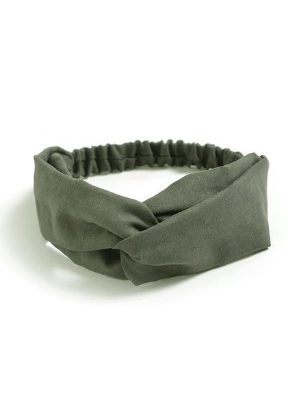 Fashion Favorite Suede Cross Haarband Olive | Groen | Velvet Suède