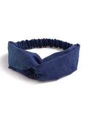 Fashion Favorite Suede Cross Haarband Navy Blauw
