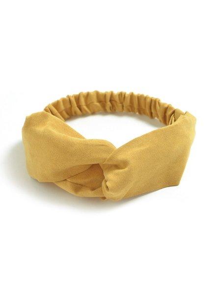 Fashion Favorite Suede Cross Haarband Mosterd Geel