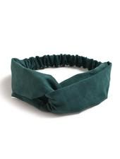 Fashion Favorite Suede Cross Haarband Indigo Green | Groen | Velvet Suède