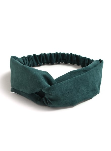 Fashion Favorite Suede Cross Haarband Indigo Green | Groen | Velvet Suède