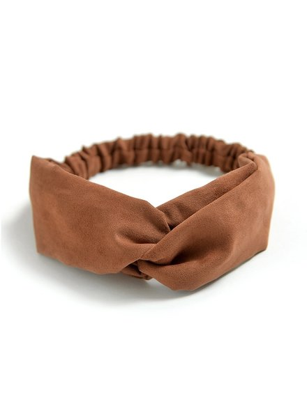 Fashion Favorite Suede Cross Haarband Brown | Bruin | Velvet Suède