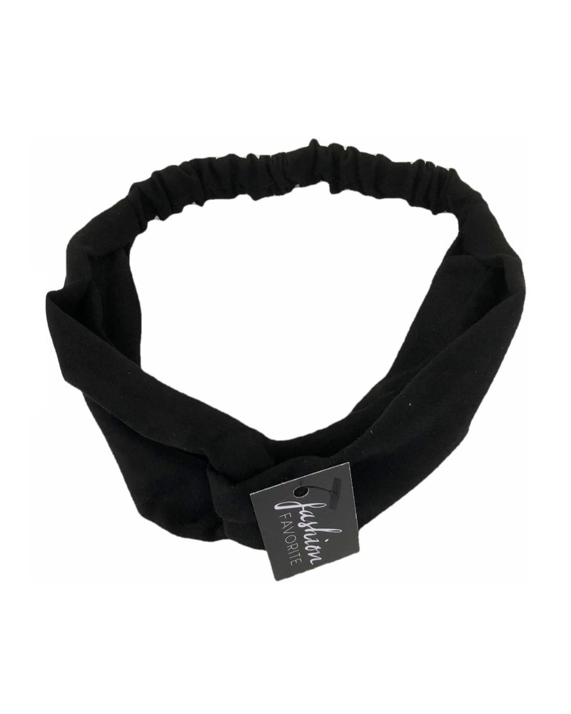 Fashion Favorite Suede Cross Haarband Black | Zwart | Velvet Suede