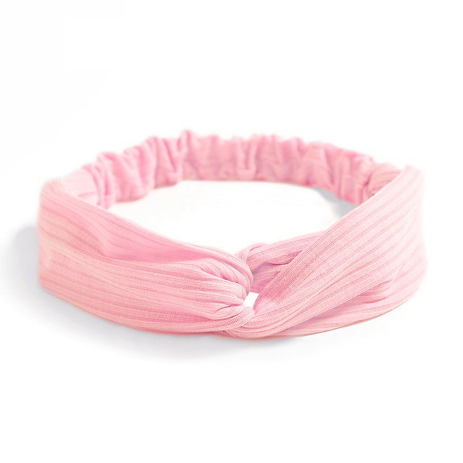 Knitted Haarband Lightpink | Roze | Katoen | Cross Bandana