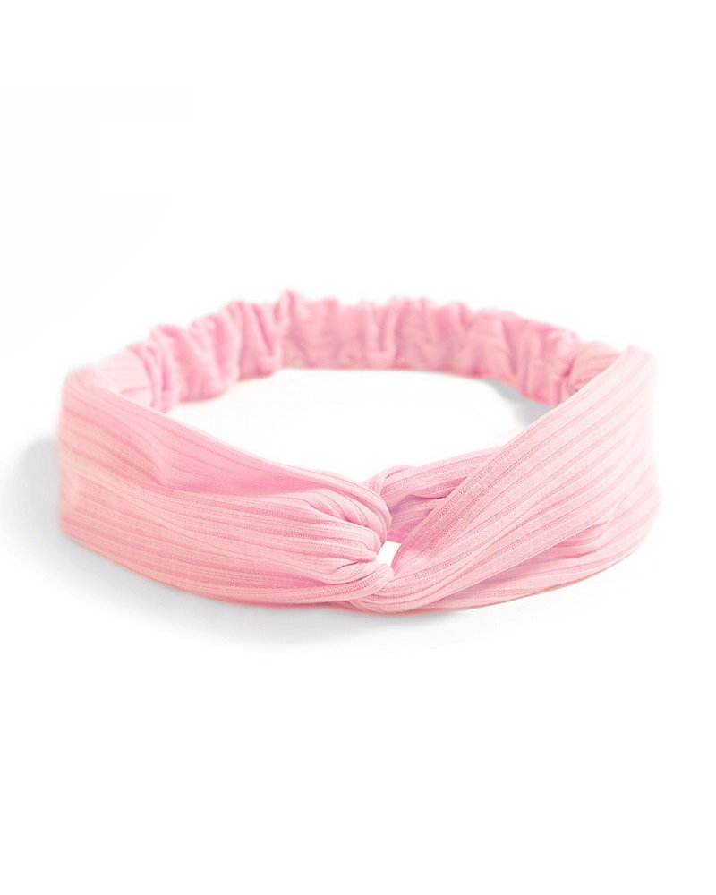 Fashion Favorite Knitted Haarband Lightpink | Roze | Katoen | Cross Bandana