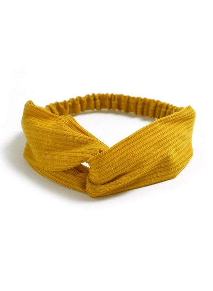 Fashion Favorite Knitted Haarband Mustard | Geel