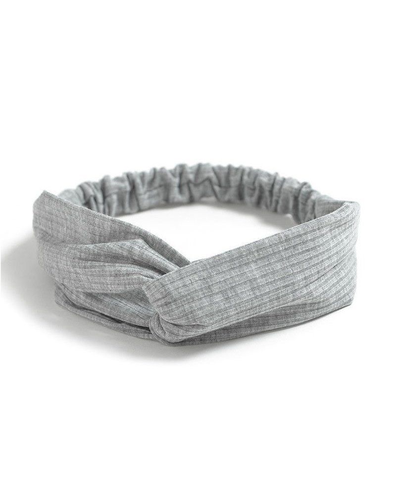 Fashion Favorite Knitted Haarband Grey | Grijs | Katoen | Cross Bandana