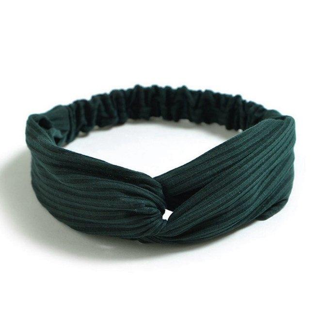 Knitted Haarband Green   Groen