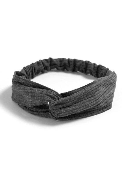Fashion Favorite Knitted Haarband Dark Grey | Grijs