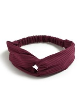 Fashion Favorite Knitted Haarband Burgundy | Wijnrood