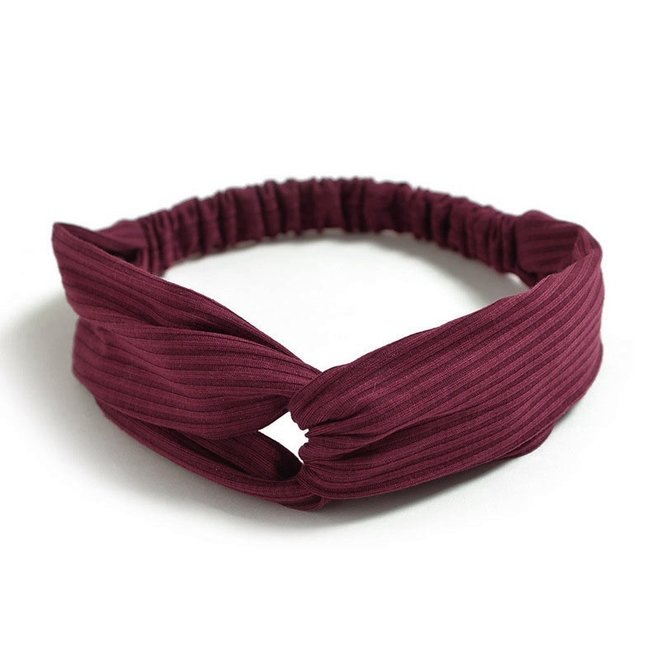 Knitted Haarband Burgundy | Wijnrood