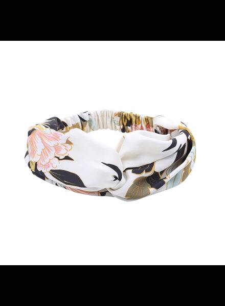 Fashion Favorite Haarband Oriental White Flowers | Satijn - Bloemen