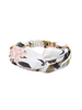Fashion Favorite Haarband Oriental White Flowers | Satijn - Bloemen | Elastische Bandana