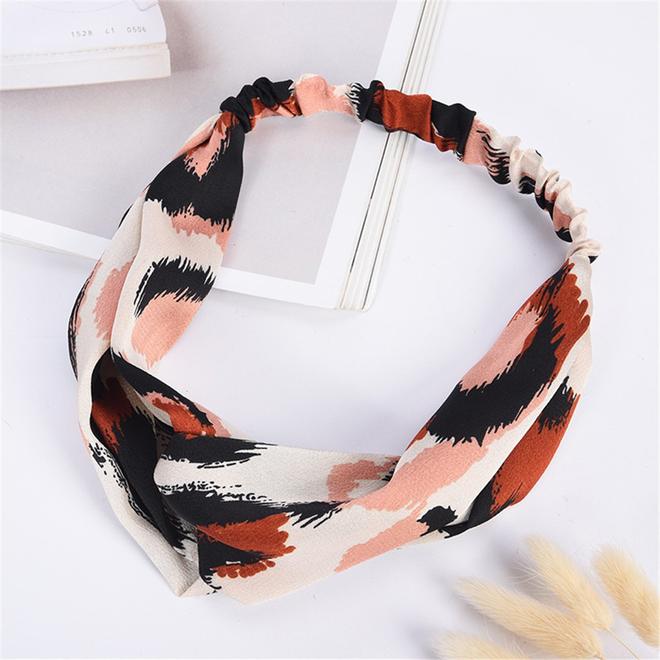 Haarband Leopard - Luipaard Roze | Satijn - Polyester | Elastische Bandana