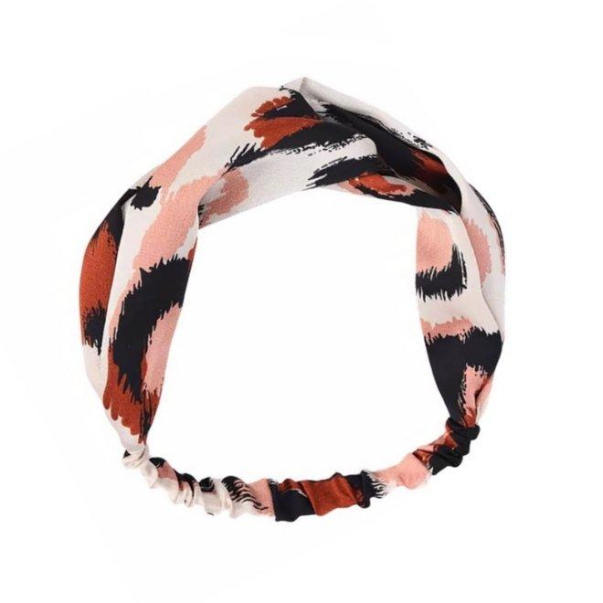 Haarband Leopard - Luipaard Roze