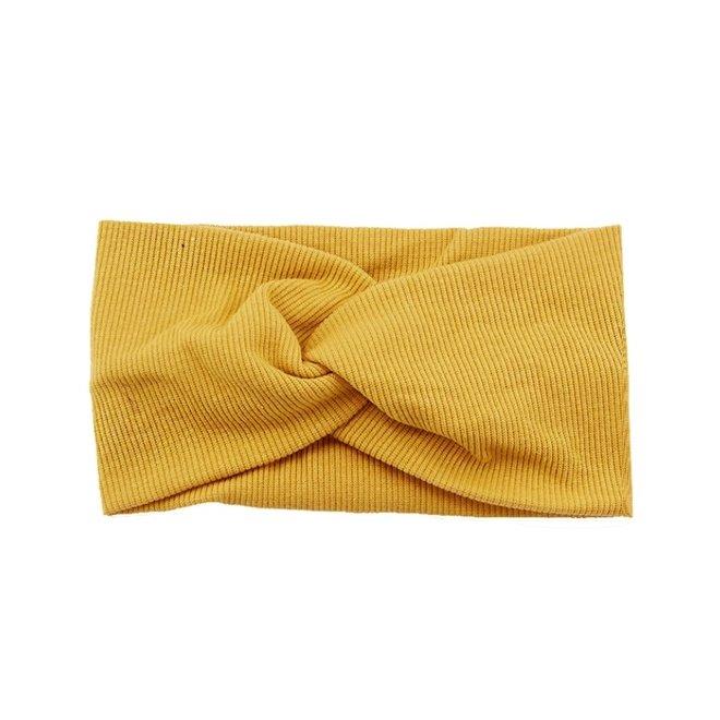 Haarband Geel - Okergeel | Bandana | Katoen | Elastisch