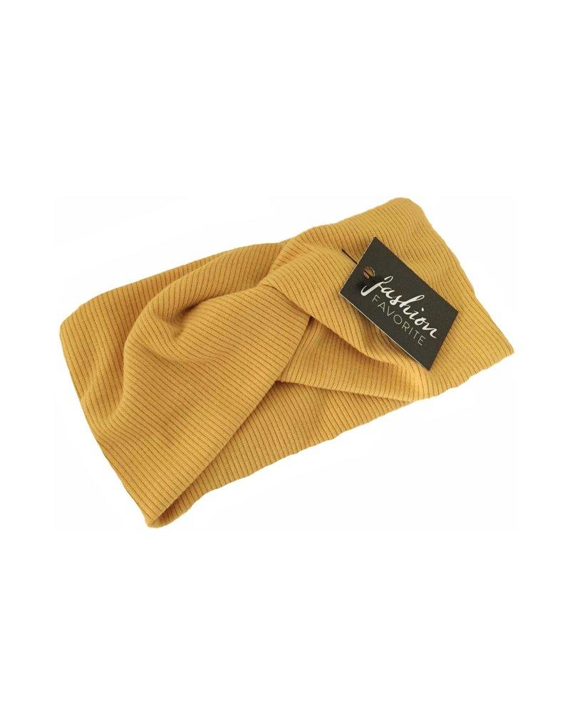 Fashion Favorite Haarband Geel - Okergeel | Bandana | Katoen | Elastisch
