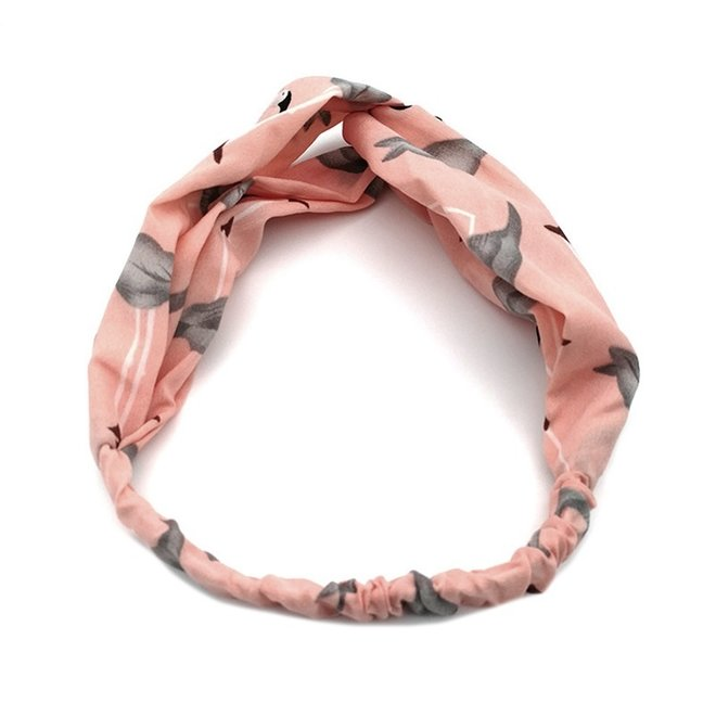 Haarband Flamingo Roze   Polyester   Elastische Bandana