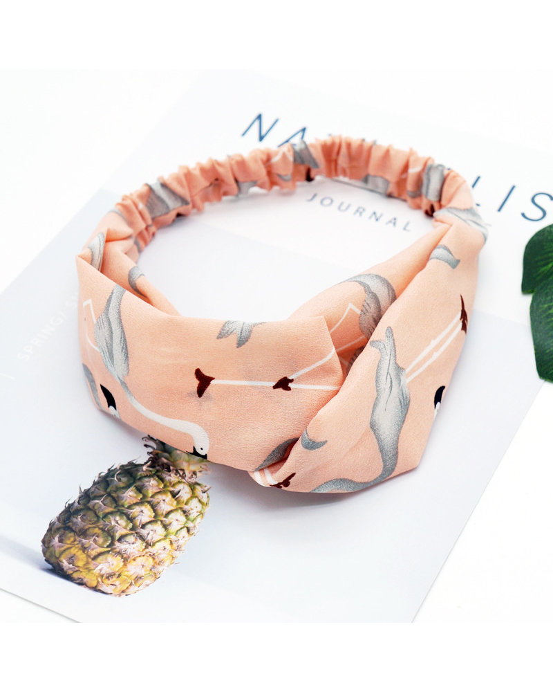 Fashion Favorite Haarband Flamingo Roze | Polyester | Elastische Bandana