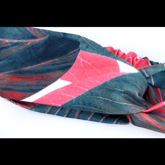 Haarband Botanic Jungle | Red Leafs | Katoen Bandana