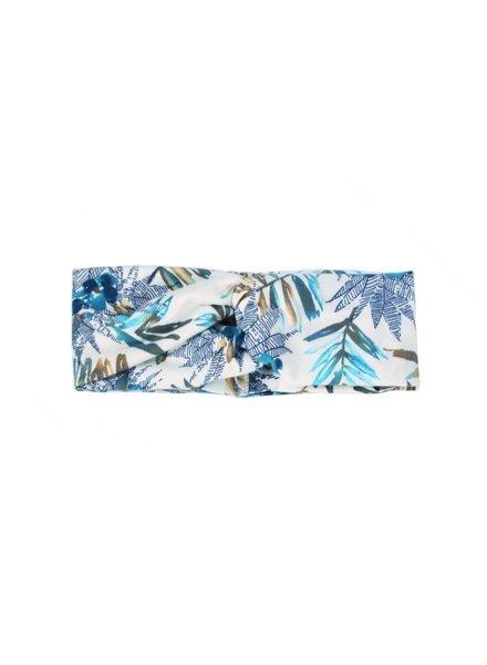 Fashion Favorite Haarband Bloemen Leaf Wit - Blauw