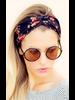 Fashion Favorite Haarband Bloemen Leaf Okergeel - Groen | Katoen | Bandana