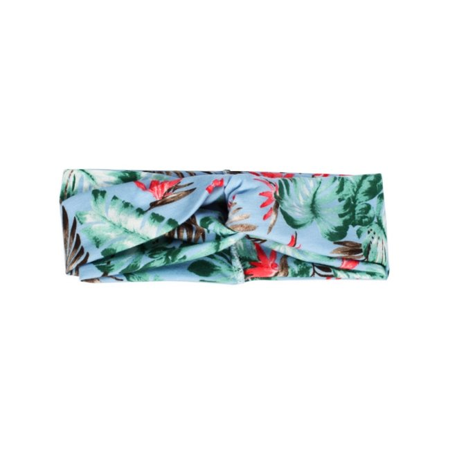 Haarband Bloemen Leaf Groen | Katoen | Bandana