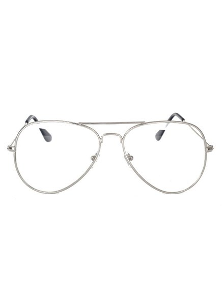 Fashion Favorite Aviator Bril Silver | Zilverkleurig