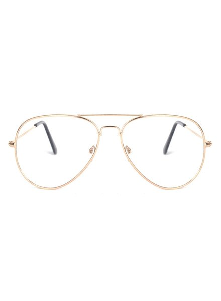 Fashion Favorite Aviator Bril Gold | Goudkleurig