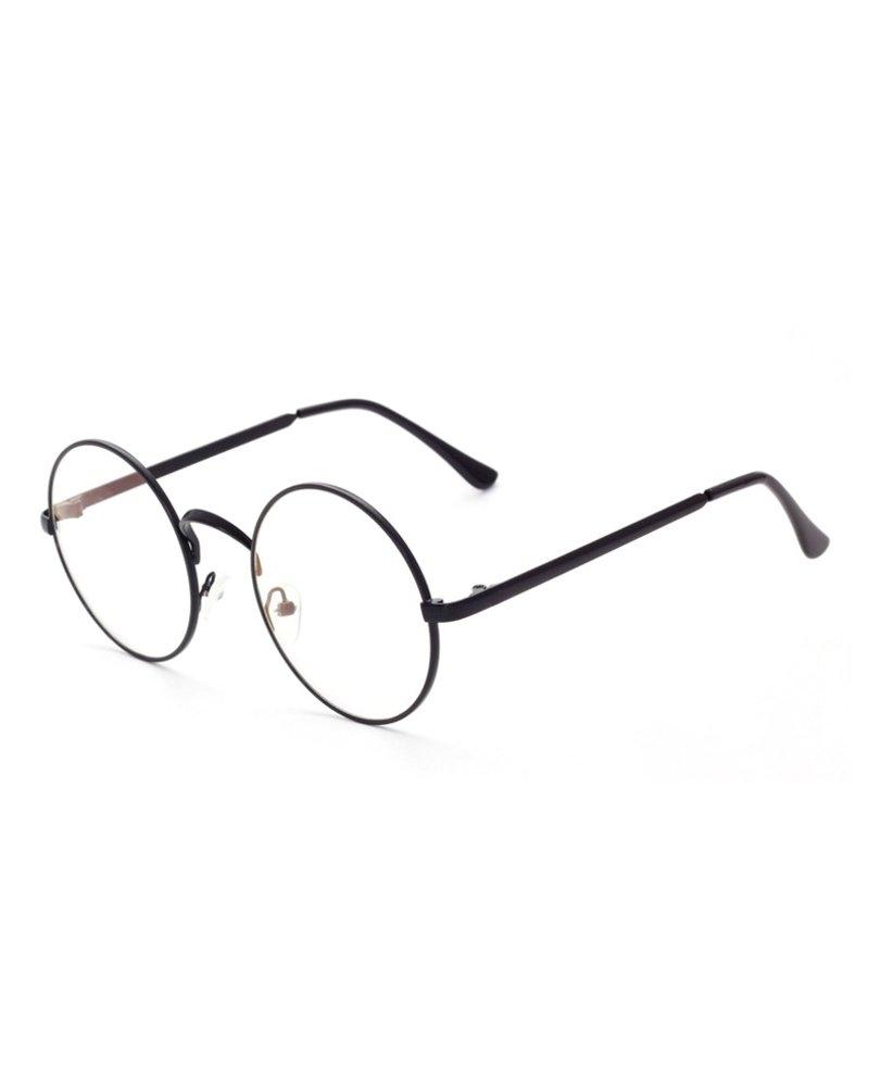 Fashion Favorite Retro Round Bril | Rond Zwart | Bril zonder sterkte | 50 mm