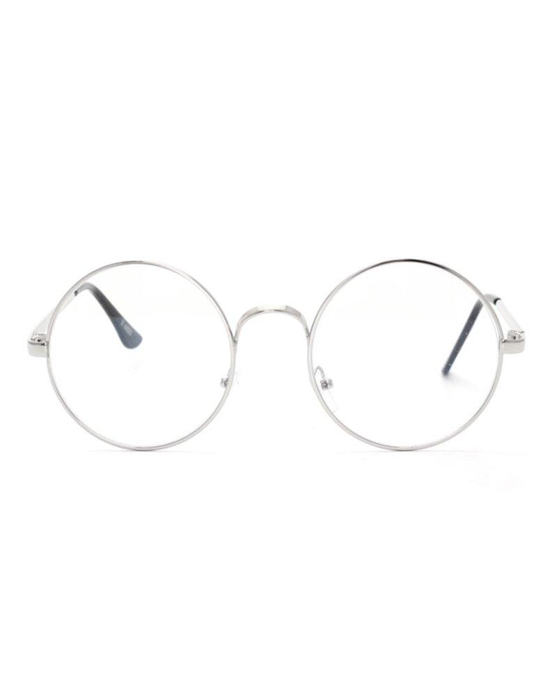 Fashion Favorite Retro Round Bril | Rond Zilver | Bril zonder sterkte | 50 mm