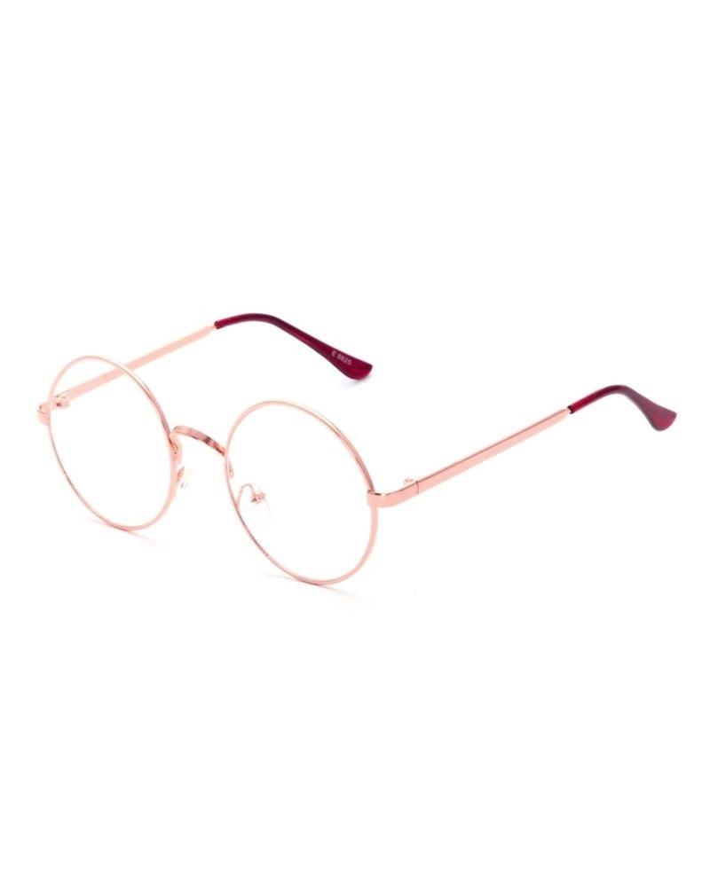 Fashion Favorite Retro Round Bril | Rond Rosé | Bril zonder sterkte | 50 mm