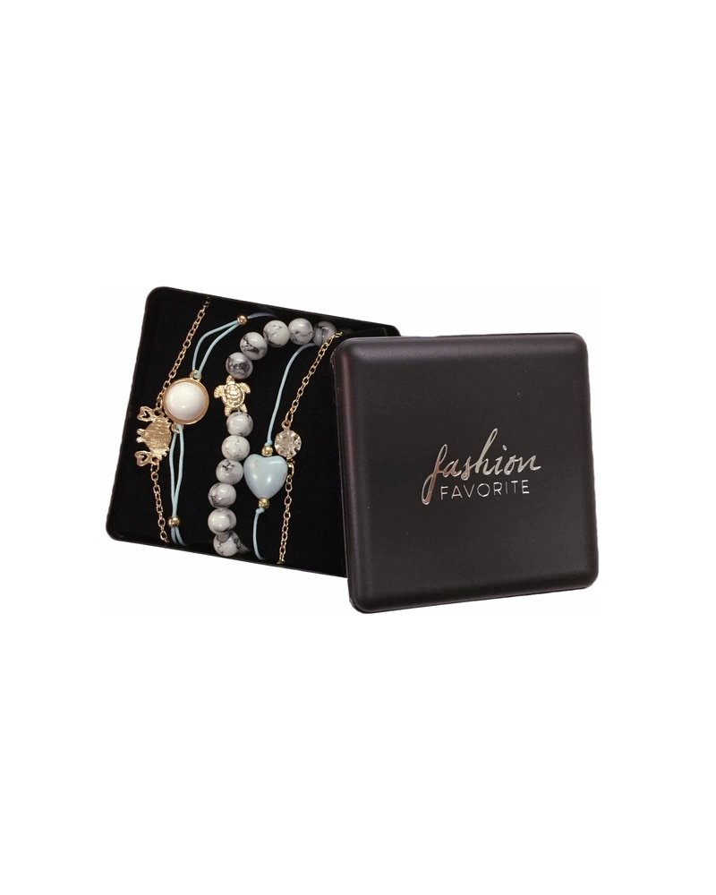 Fashion Favorite Set Armbanden Ocean | 5 - delig | Goudkleurig | 18 cm