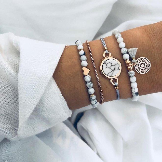 Set Armbanden Marble