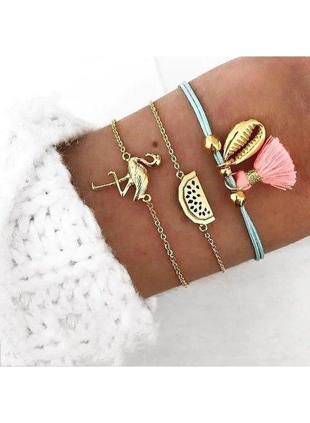 Fashion Favorite Set Armbanden Flamingo