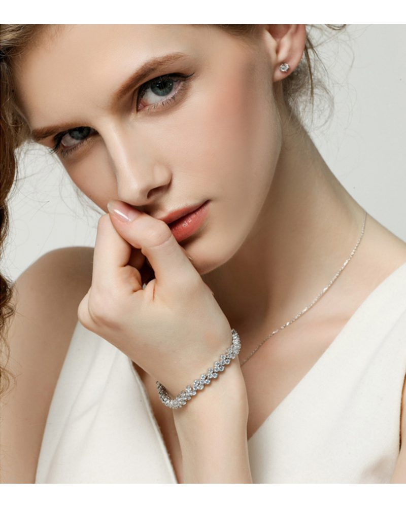 Fashion Favorite Crystal Briljant Armband - Dames - Verzilverd - 18 cm
