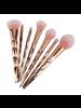 Fashion Favorite 7-delige Make-up Kwasten/Brush Set | Shiny Rosegold