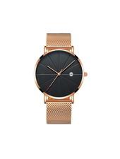 Fashion Favorite Chicago Rosé Mesh Horloge | Staal | Rosekleurig / Zwart