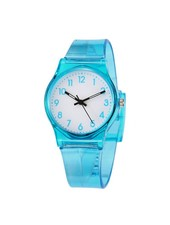 Fashion Favorite Classic Transparant Kinderhorloge Blauw