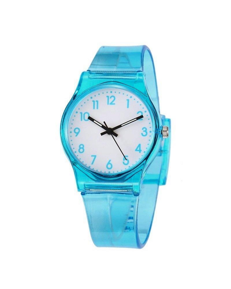 Fashion Favorite Classic Transparant Kinderhorloge Blauw | Kunststof/Plastic |