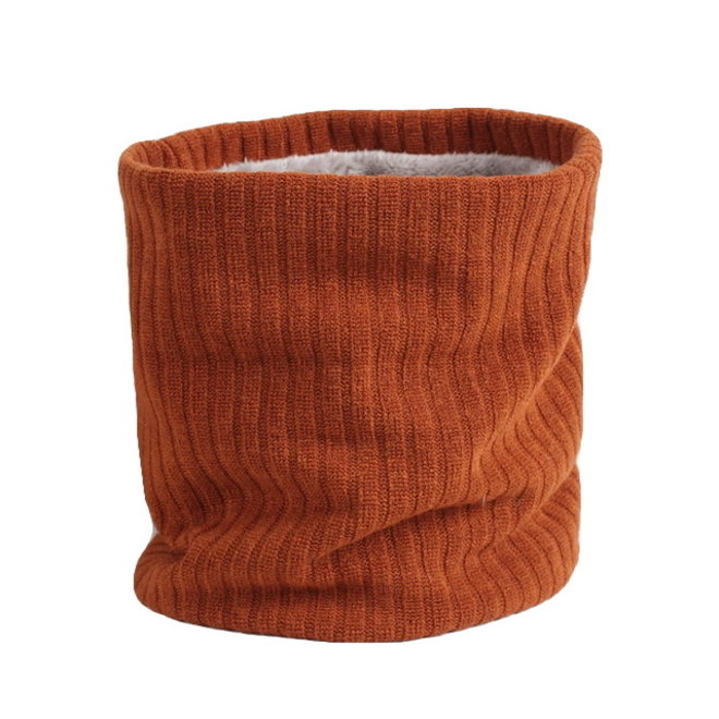 Colsjaal Rib Roest / Bruin   Teddy Voering