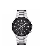 Curren Curren Silver/Black Steel - Heren Horloge