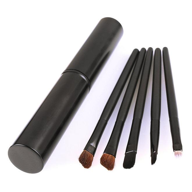 5-delige Make-up Kwasten Set - Zwart