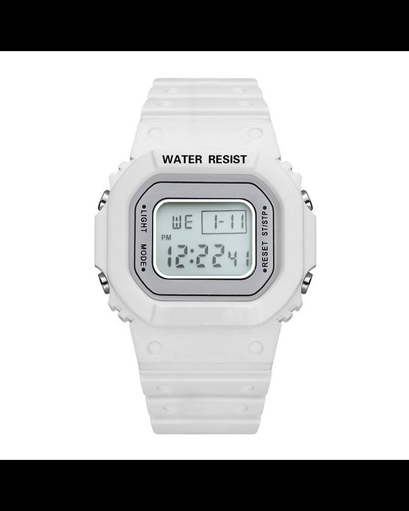 Fashion Favorite Digitaal Horloge | Wit | PVC Kunststof | 45 mm