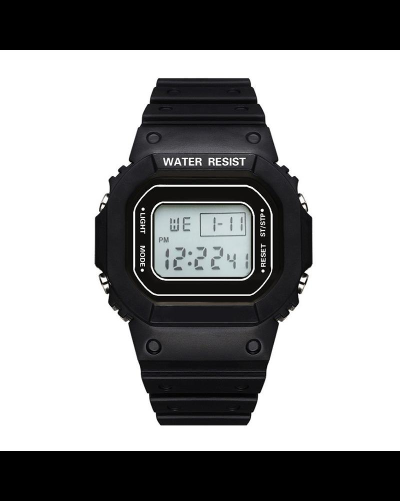Fashion Favorite Digitaal Horloge | Zwart | PVC Kunststof | 45 mm